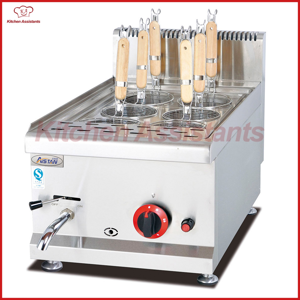 GH538 Gas Paster Cooker with 6 Head for commercial kitchen pkjg gh776 gas convection pasta cooker 6 pan for commercial kitchen