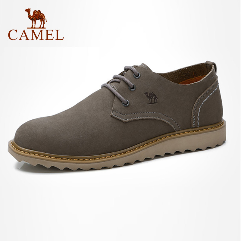 CAMEL Men s Shoes Casual Comfortable Genuine Leather Footwear England Trend Autumn Lace up Retro Elegant