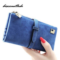 New Arrive Fashion Retro Matte Stitching Wallet Women Long Purse Clutch Women Casual Hasp Dollar Price