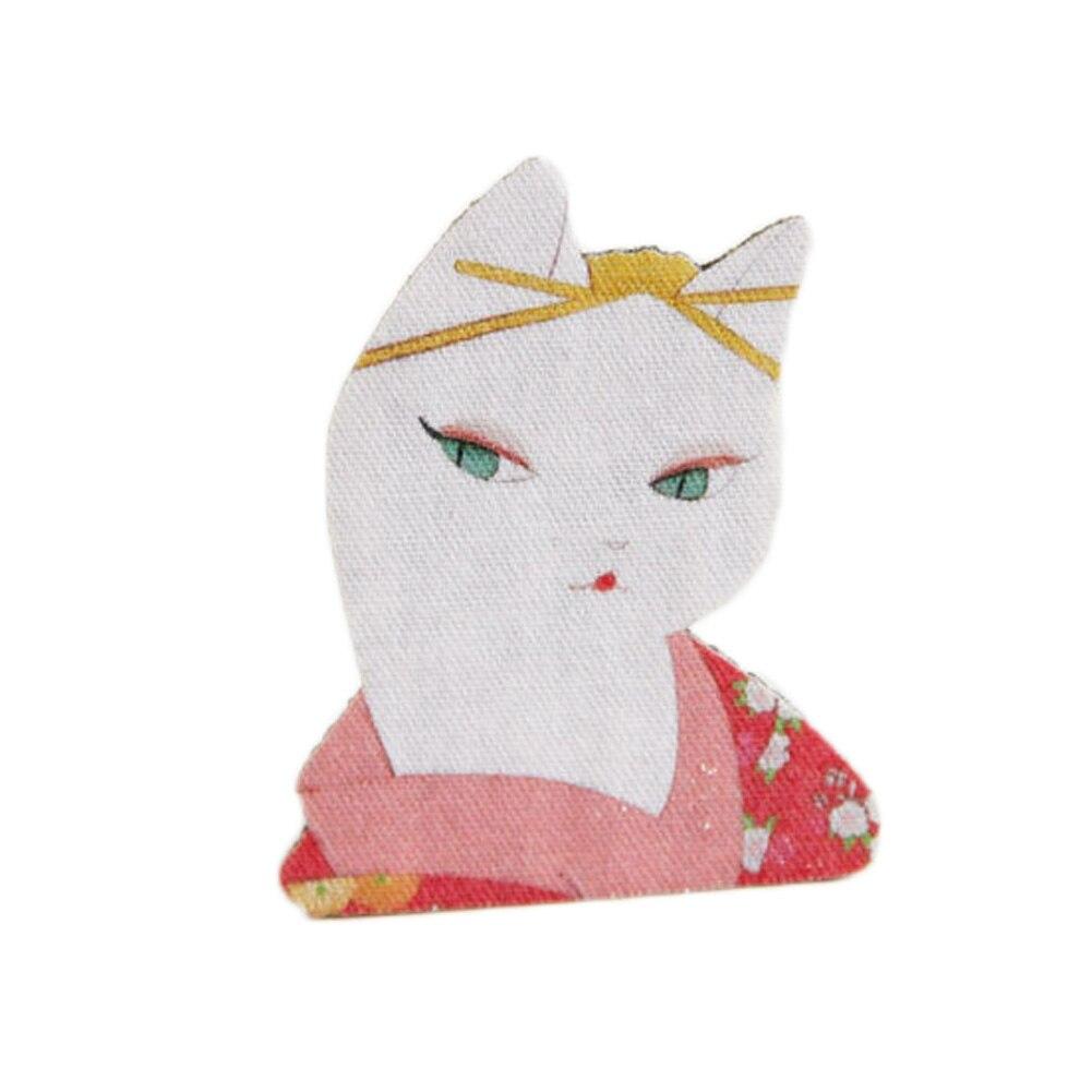 2017 Doux Lolita Contracté Belle Kimono Chat Broche étudiants Naïf Fille Attirée Accessoires Médaille Broches Les Clients D'Abord