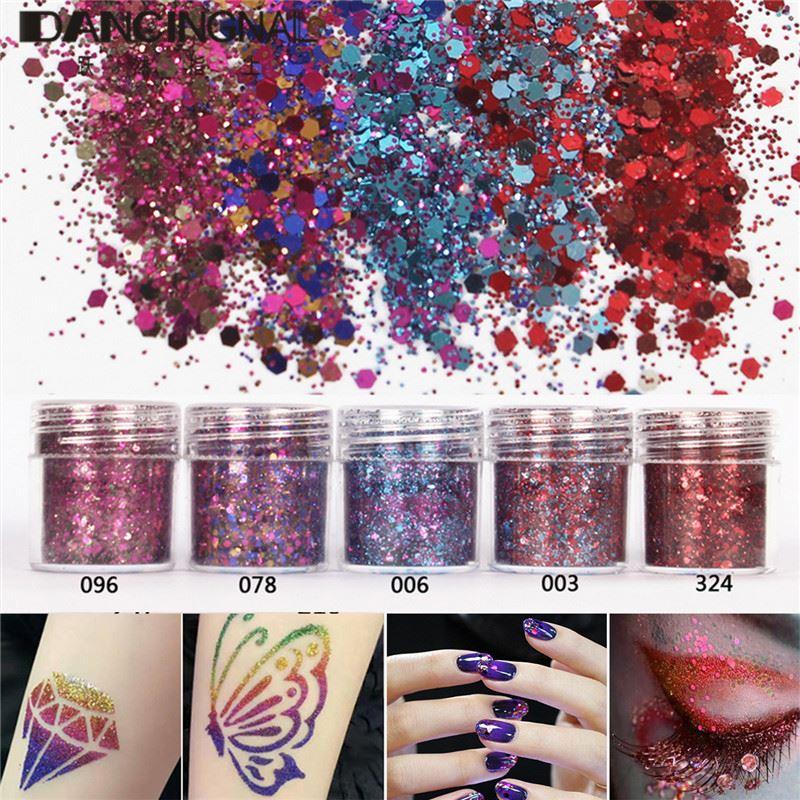 Black Holographic Glitter Powder Pixie Dust Additive Body Nails Arts Crafts DIY