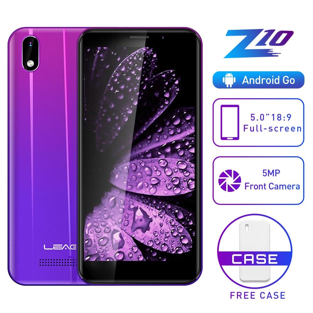 LEAGOO Z10 Android téléphone portable 5.0 18:9 affichage 1GB RAM 8GB ROM MT6580M Quad Core 2000mAh 5MP caméra 3G Smartphone