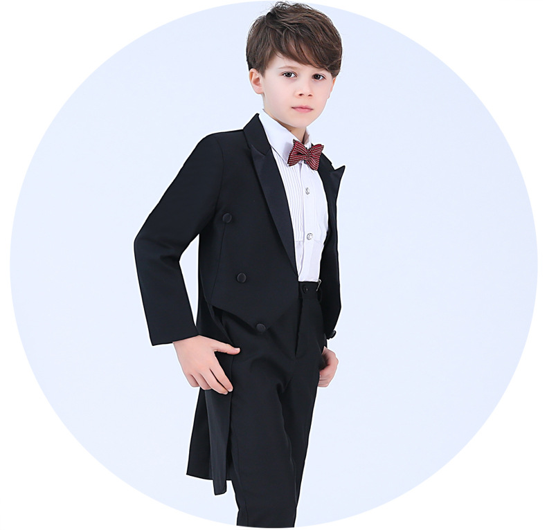 Children blue formal suits boy blazers set teenagers Tuxedo trendy winter clothes kids wedding coat outfits piano party costume цена 2017