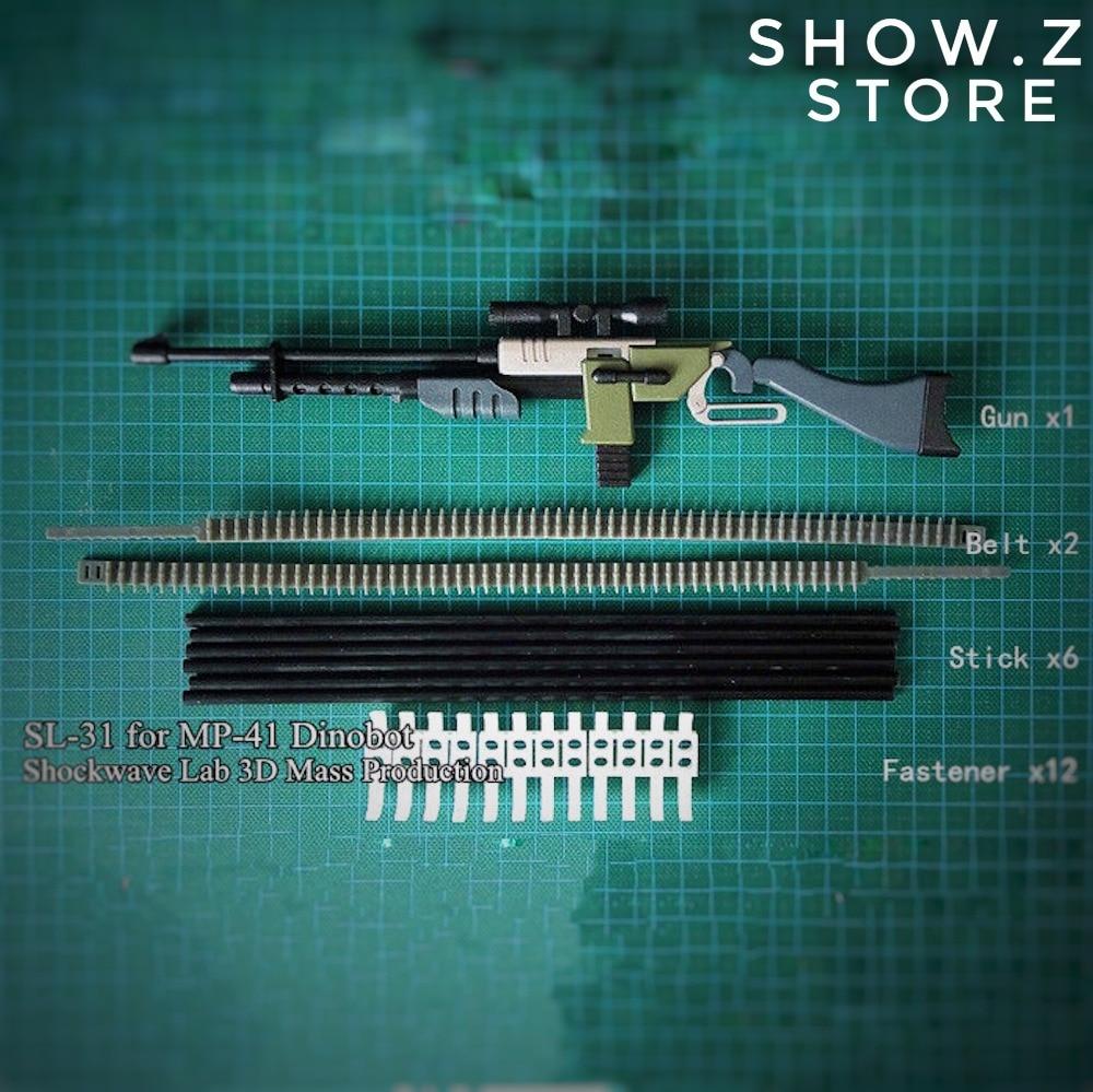 [Show.Z Store] Shockwave Lab SL-31 SL31 MP-41 MP41 Beast War Dinobot Weapon Upgrade Kit Transformation Action Figure shockwave