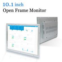 10.1 אינץ צג מסגרת פתוח מתכת מקרה תעשייתי תצוגה נייד צג HDMI VGA DVI AV פלט
