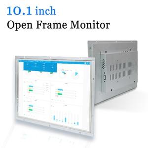 Image 1 - 10.1 polegada quadro aberto monitor de metal caso display industrial portátil monitor hdmi vga dvi av saída