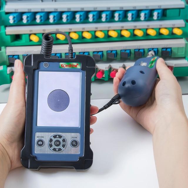 Komshine KIP 600V Fiber Optic Connector Inspection Video Inspection Probe and Display, Fiber Optic MicroScope 400 Magnification