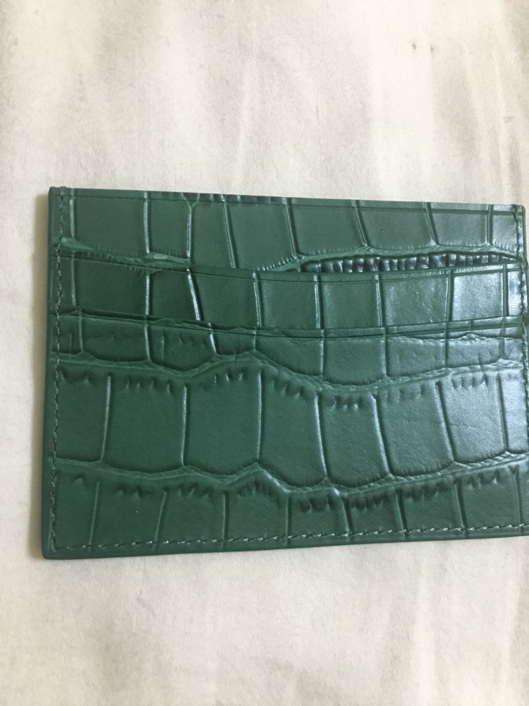 classic Crocodile Pattern Card Holder Men Women Genuine Leather Leather Credit Card Case ID Card Holder Wallet Purse Pouch photo review