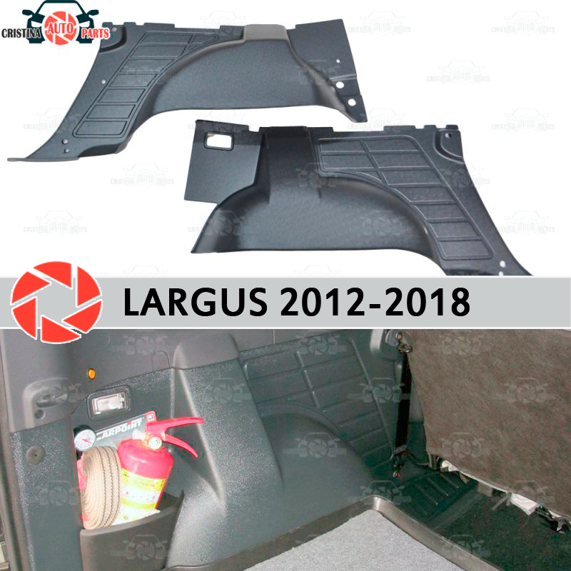 Inner lining of the wheel arches for Lada Largus 2012-2018 to protect the carpet in the trunk accessories protection car styling h11 male to female wire harness sockets extension cable for car headlamp foglight