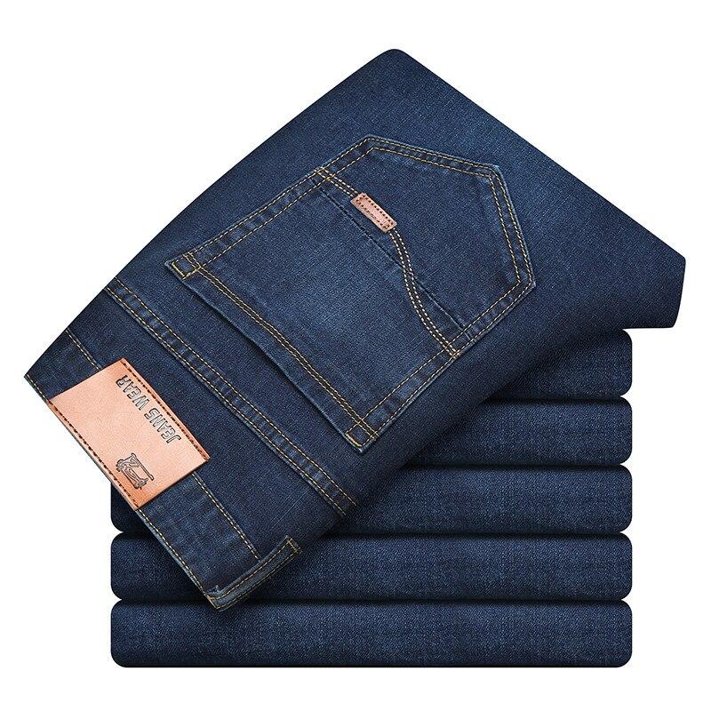 [ Size 28-40 ]  2018 Brand  Cotton Business Straight Leg Long Jeans Men Summer Designer Clothes Denim Pants Male Casual Trousers
