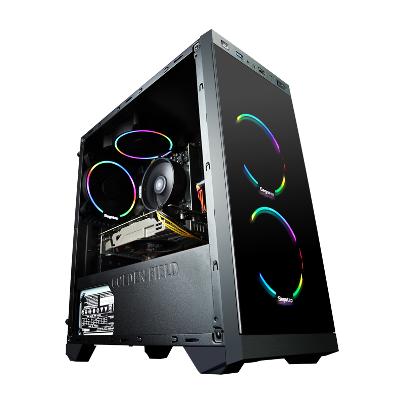 A1 AMD Ryzen5 2600 GTX1060 120GB SSD Gaming Desktop PC Computer 8GB RAM Home Desk 5 Colorful Fans