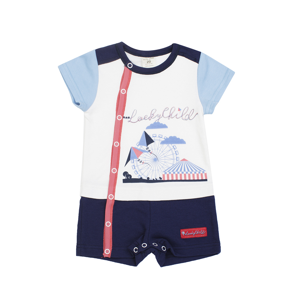 Jumpsuit Sandpiper Lucky Child for boys 35-28 (3M-24M) amusement park Children's Baby Kids Overalls clothes 0 24m newborn baby girl clothes infant bebes long sleeve cotton romper jumpsuit one pieces outfit