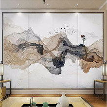 Artistic concept ink background wall decoration painting custom high-end mural factory wholesale wallpaper photo