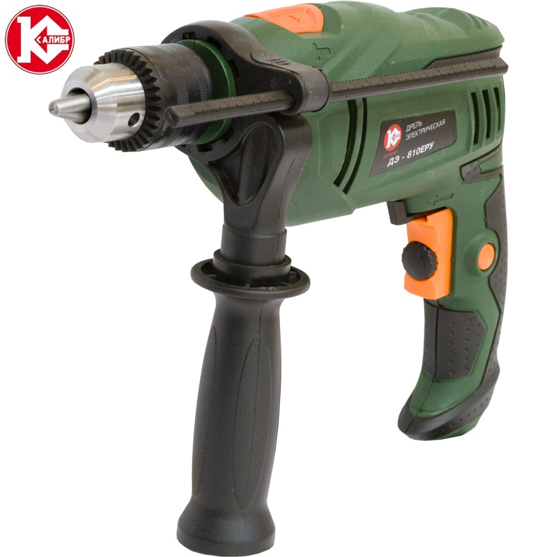 Impact electric drill Kalibr DE-810ERU kalibr demr 1050eru electric drill household impact drill multi function drill wall screwdriver gun light hammer powder tools