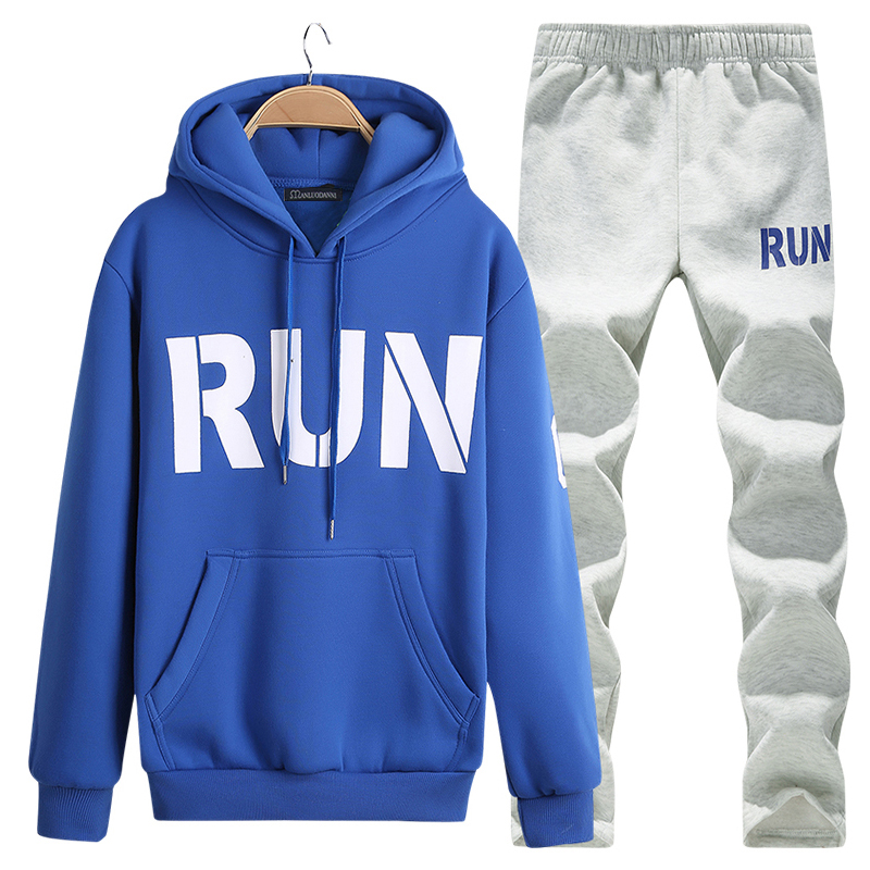 Men Suits Two Piece Set Hoodies Jackets Sportswear And Jogger Pants Sweat Suit Tracksuits Sets Male Brand Clothes Plus Size 4XL ...