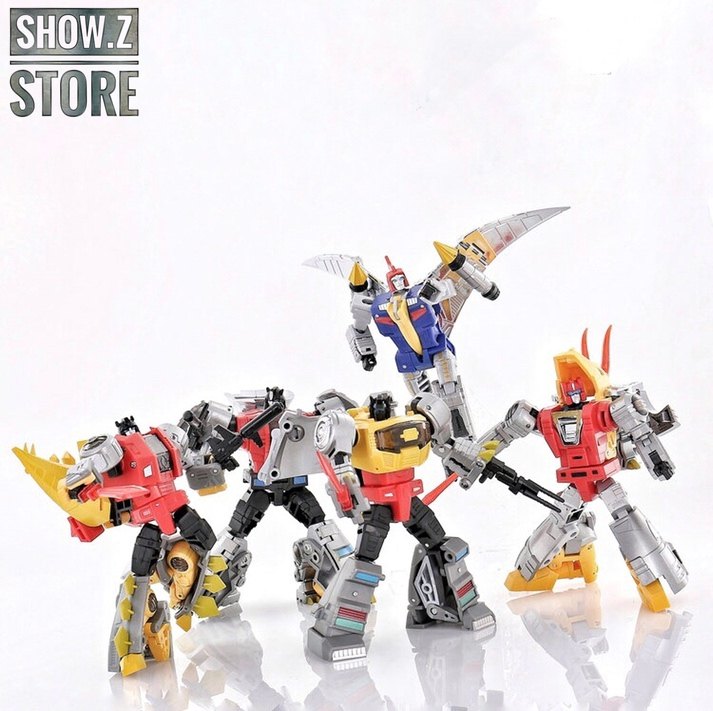 [Show.Z Store]DX9 Toys War In Pocket Dinobots Set Of 5 (X18 Bumper, X19 Quaker, X20 Skyer, X21 Thorner, X22 Rager) Action Figure
