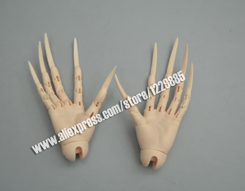 HeHeBJD sd extra long nais hands jointed hands fantasy devil hands zombie vampire bjd dolls free