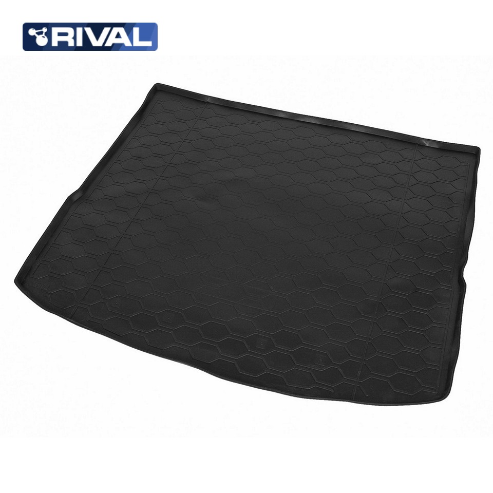 For Lada Vesta SW Cross 2017-2019 trunk mat for equipment without raised floor Rival 16006004 fresh style back criss cross one piece floral swimwear for women