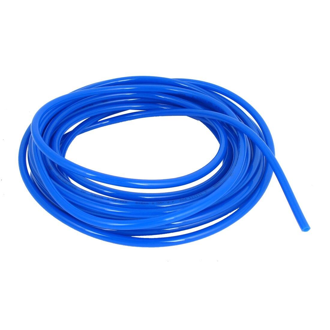 UXCELL 8.6M 28Ft Long 8Mmx5mm Air Fuel Gas Polyurethane Flexible Pu Hose Tube Pipe Blue uxcell 16ft 8mm inner dia clear plastic pvc hose pipe tube for tank air pump aquarium