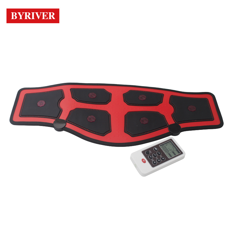 BYRIVER EMS Electric Slim Belt FIR Heating Waist Belly Health Therapy Massager Pulse Muscle Stimulator Acupuncture Stimulation