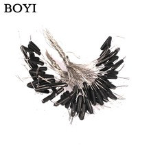 BOYI 50pcs Double Hooks Contactor Device Fishing Tackle Eight Type Space Bean Fishing Line Space Fishing Accessories
