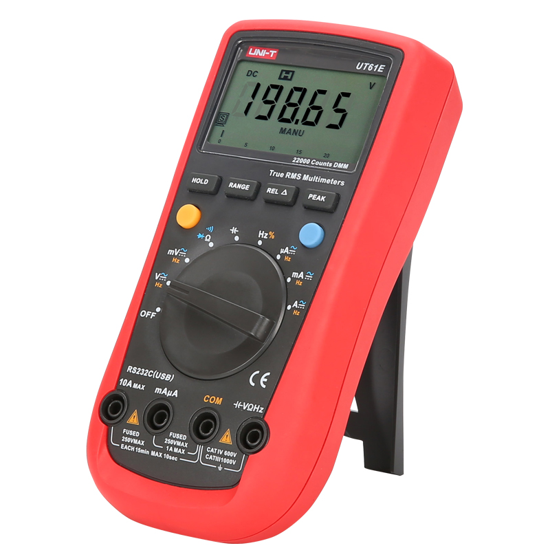 Tools : UNI-T UT61A UT61B UT61C UT61D UT61E Auto Range Digital Multimeter  Resistance Capacitance Frequency Temperature Test RS-232