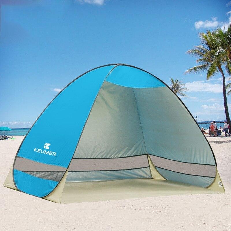 Automatique Tente de Camping Plage Tente 2 Personnes Tente Ultra-Léger Instantanée Pop Up Ouvert Anti UV Auvent Tentes En Plein Air Sunshelter