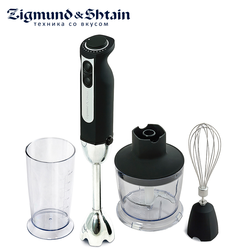 Zigmund & Shtain BH-129R Blender Hand kitchen 900W 600ml Mixer Food processor Household use 12 modes Low noise level