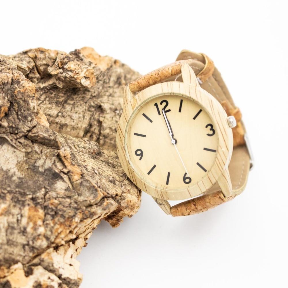 Cork watch strap with sliver unisex Quartz watches with watch box original From PORTUGAL  Wa-100