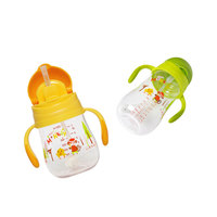 shatter proof spill proof heat resistant carton straw handle 220 320ml infant water bottle sippy baby cup on sale KD3327