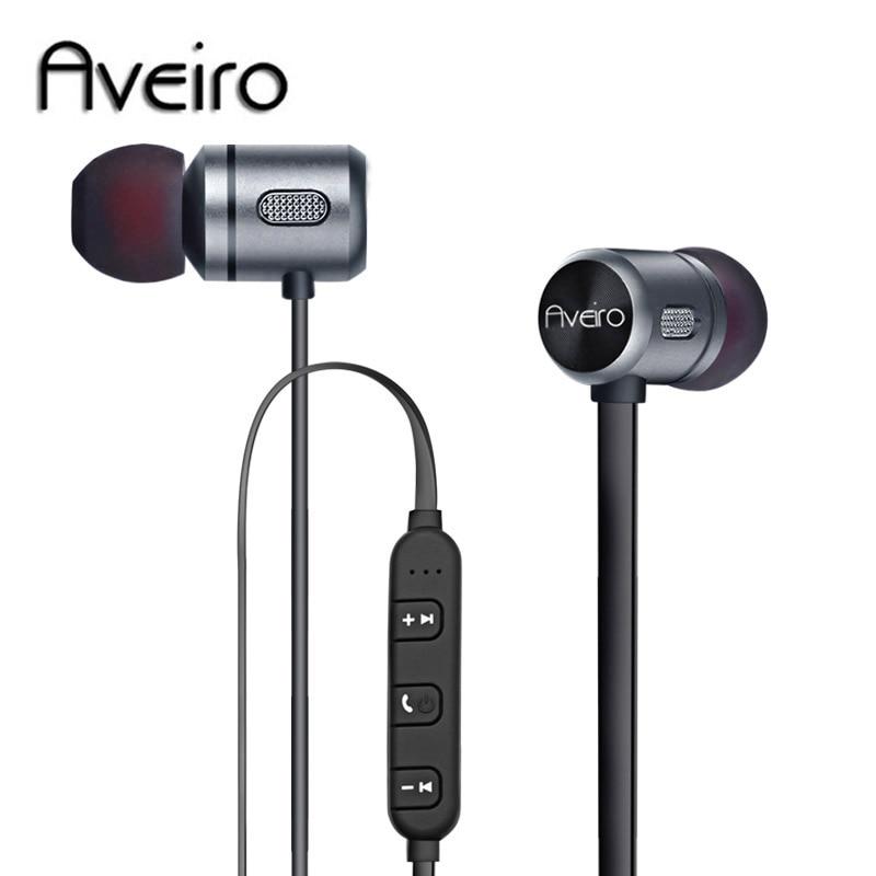 Newest Aveiro Wireless Headphone Bluetooth Earphone Headphone For Phone Neckband sport earphone Auriculare CSR Bluetooth V4.2