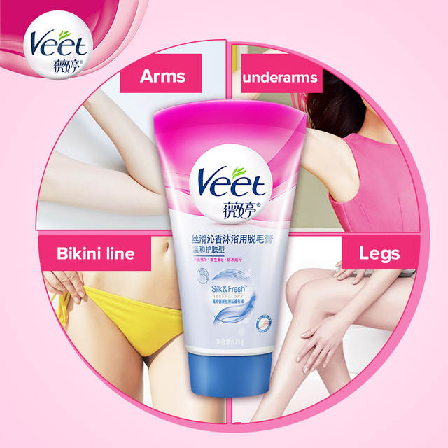 Online Shop Veet In Shower Hair Removal Cream Delicate Skin