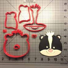 Милая Серия животных, резак для печенья, инструменты для украшения торта, пользовательские 3D печатные формы для помадки формочки для печенья