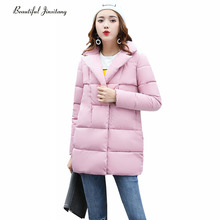 Europe America fashion new cotton clothing jacket 2017 autumn winter leisure loose long section Thicker lapel coat female W10A0
