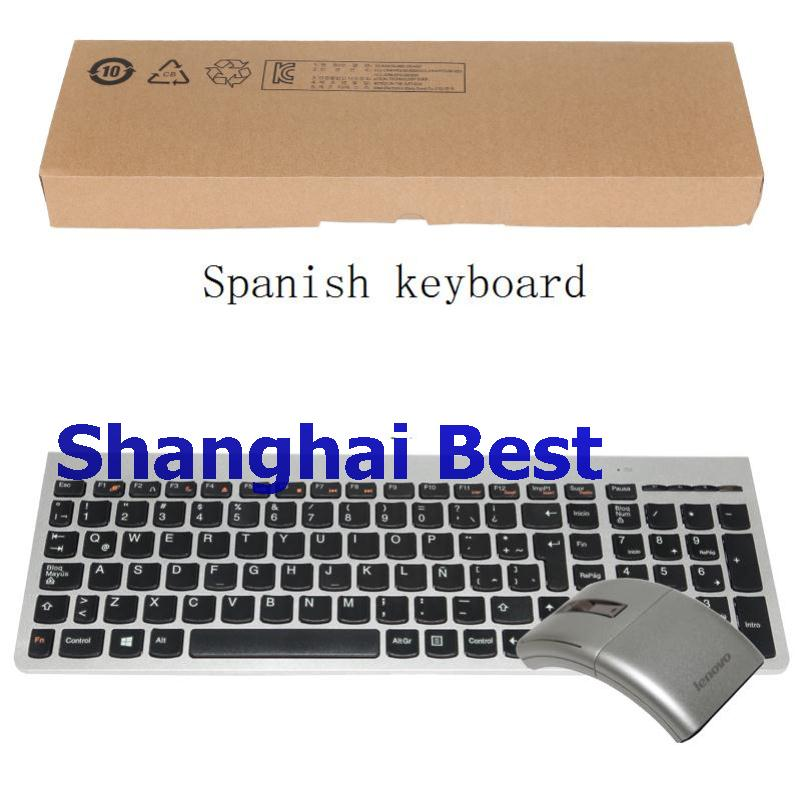 8dcfb3491cb Genuine Lenovo 2.4Ghz Wireless Combo SK8861 Silver Russian Spanish German  US UK Japanese Keyboard + N70 Mice 1200DPI Laser Mouse-in Keyboards from  Computer ...