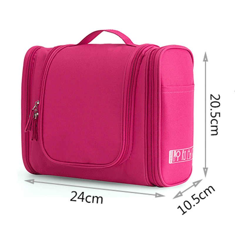 787e38dd3654 ... Водостойкая нейлоновая дорожная сумка-Органайзер унисекс для женщин  косметичка подвесные дорожные сумки для макияжа стиральные ...