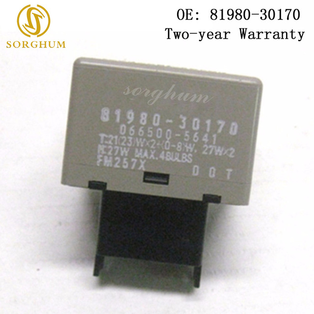 81980 30170 Turn Signal Flasher Relay For Toyota Camry Crown Innova Kijang Fortuner Hilux Land Cruiser Lexus Ls600h