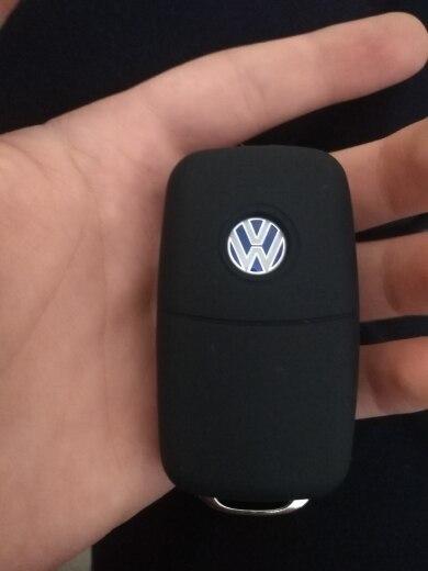 Hot silicone car key cover case shell fob for VW Golf Bora Jetta POLO GOLF Passat For Skoda Octavia A5 Fabia For SEAT Ibiza Leon