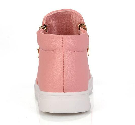 Spring Autumn Children Ankle boots Fashion Zip Flat Martin boots Bays Girls shoes Pu leather Kids botas Riding Equestria 041