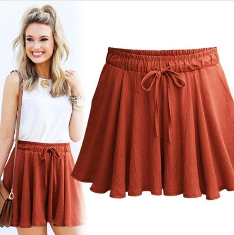 2018 Summer Fat Sister Large Size Loose Skirt Anti-running Wide-legged Shorts