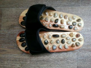 Pebble Stone Foot Massage Slippers Unisex photo review