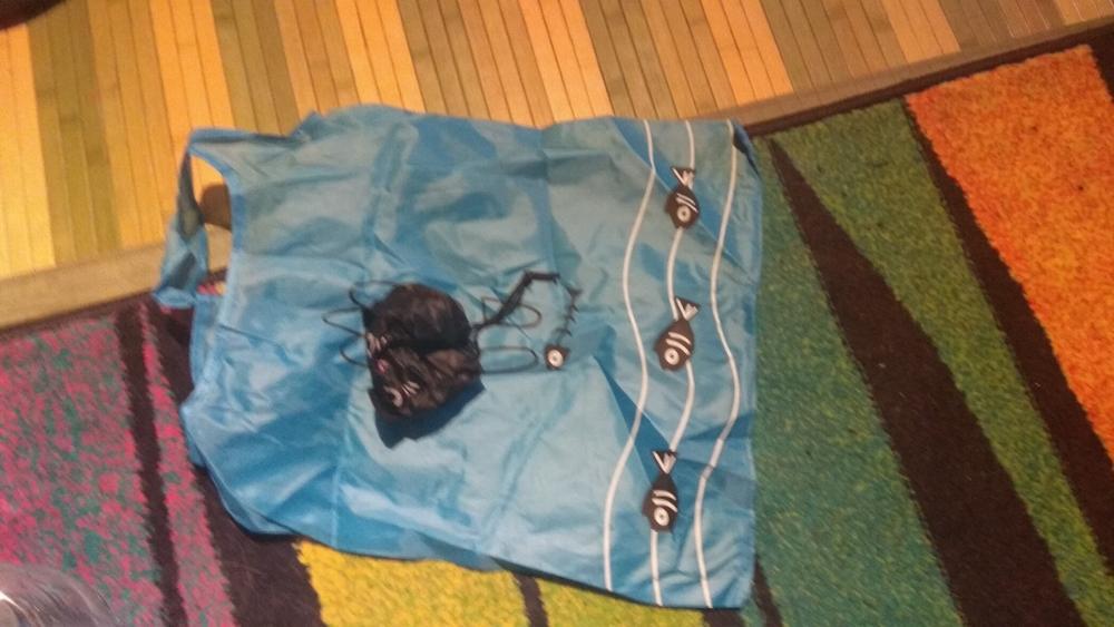 New Cartoon Shopping Tote Cute Cat Animals Folding Useful Nylon Foldable Eco Bag Reusable Shopping Bags photo review