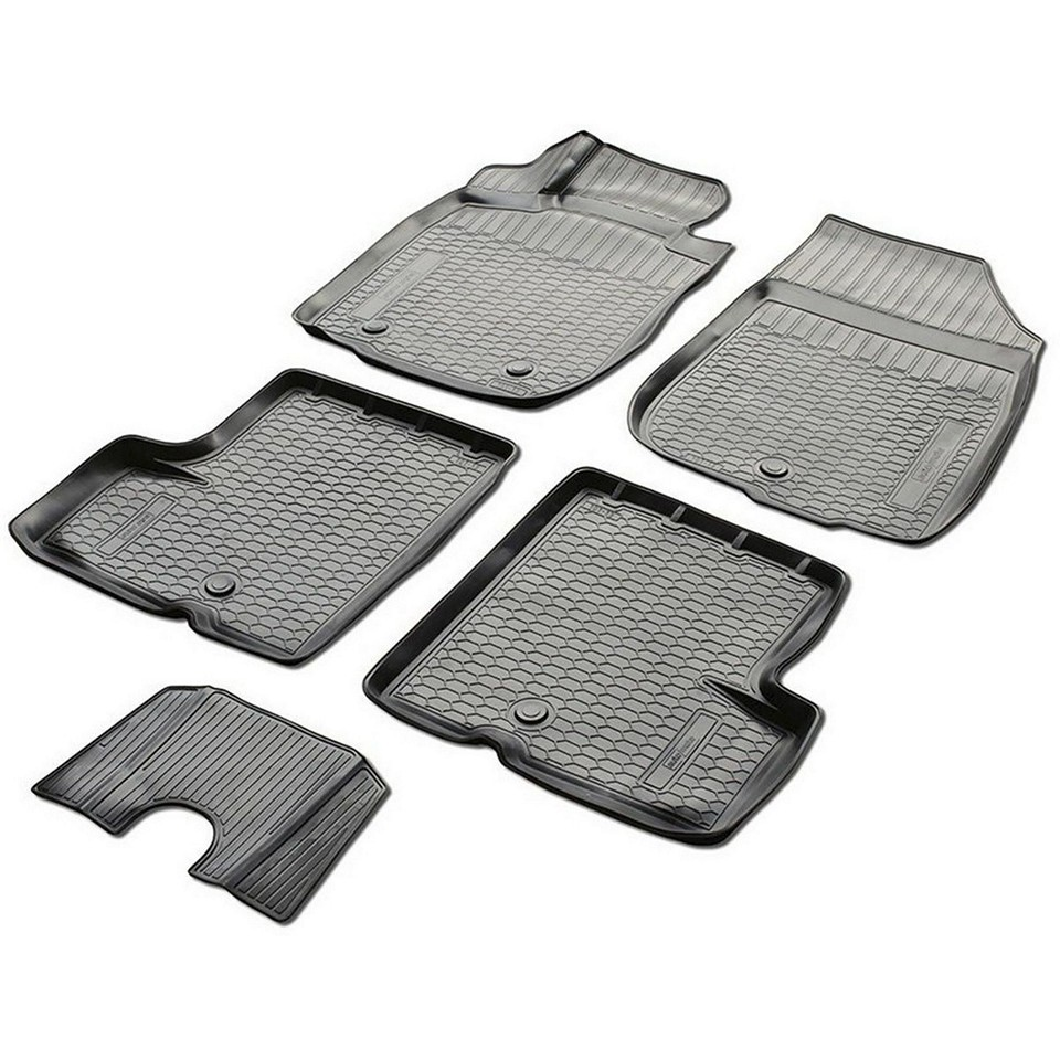 3D floor mats into saloon for Nissan Terrano 4WD 2014-2018 5 pcs/set (Rival 14108001) for nissan terrano 4wd 2014 2019 rubber floor mats into saloon 5 pcs set rival 64701002