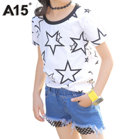 A15 Summer Kids Clothes Set Toddler Girls Clothing Sets Girl Clothes Suit Summer 2pcs Outfit Tshirt