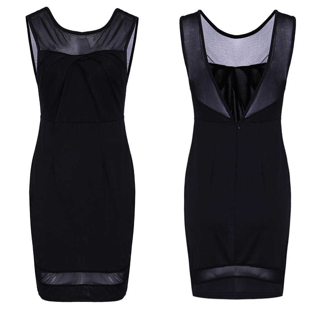 2018 New Novelty Sleeveless Sexy Party Dresses Women Backless Bodycon Bandage Dress Black Club Dresses Real Pic
