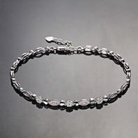 Diamond Bracelet for Women 18cm 18K White Gold 0.03ct/45pcs Diamond Jewelry Luxury Wedding Bangle Fashion Design