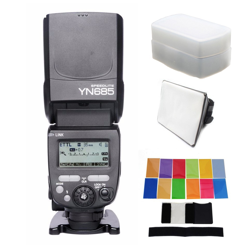 YONGNUO YN685 YN 685 YN 568EX II รุ่นที่ได้รับการอัพเกรด Wireless HSS TTL Speedlite แฟลชสำหรับ Canon 1300D EOS 5D II 6D 7D 50D 60D 70D-ใน แฟลช จาก อุปกรณ์อิเล็กทรอนิกส์ บน AliExpress - 11.11_สิบเอ็ด สิบเอ็ดวันคนโสด 1