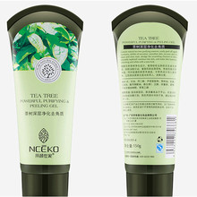 Exfoliating Face Scrub Cream Tea Tree Essence Purifying Exfoliator Peeling Gel Deep Clean Balance Oil Whitening Hydrating 150g