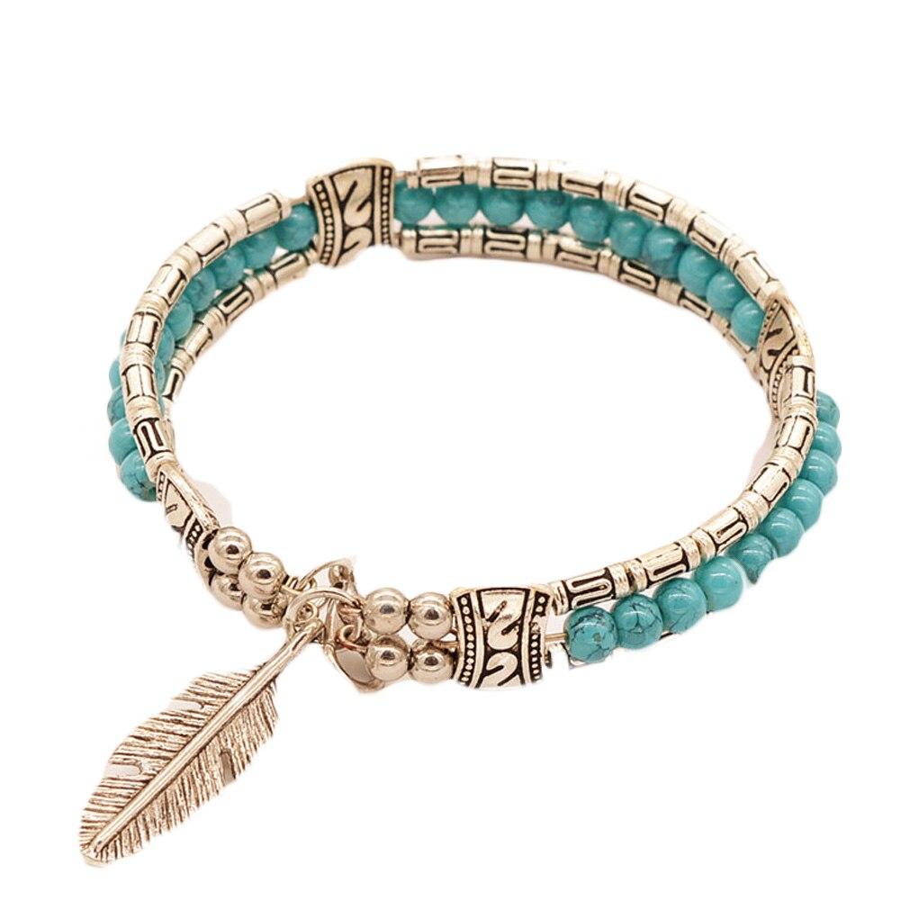 Fashion 2017 Tibetan Silver Jewelry Feather Gypsy W