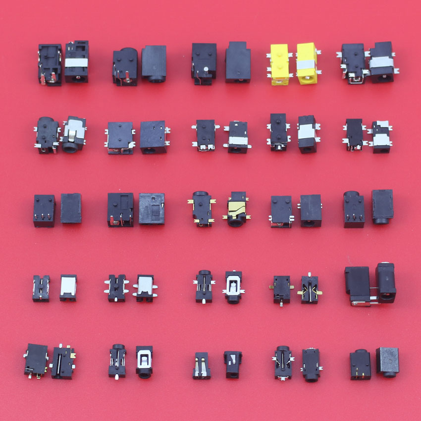 1 lot /25 Models /100pcs Widely Using Power DC Jack Connector, Socket for Laptop Tablet, Mini Pad